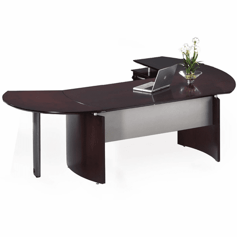 Mayline Napoli Office Desk Set Mahogany Veneer [NT5MAH]
