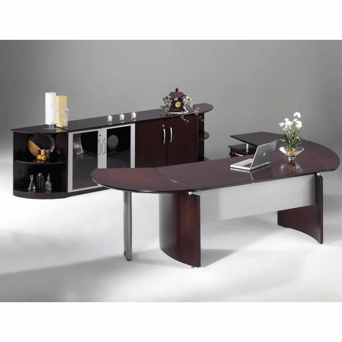 Mayline Napoli Office Desk Set Mahogany Veneer [NT9MAH]