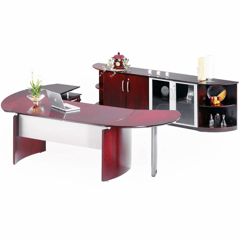Mayline Napoli Office Desk Set Sierra Cherry Veneer [NT13CRY]