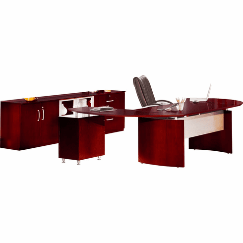 Mayline Napoli Office Desk Set Sierra Cherry Veneer [NT15CRY]