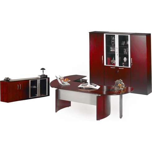Mayline Napoli Office Desk Set Sierra Cherry Veneer [NT17CRY]