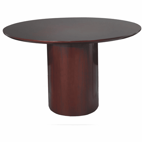Mayline Napoli Round Conference Table Mahogany Veneer [NCR48MAH]