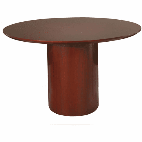 Mayline Napoli Round Conference Table Sierra Cherry Veneer [NCR48CRY]