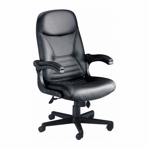"Mayline ""Pivot Arm"" Leather Heavy Duty Chair [6446AGBLT]"
