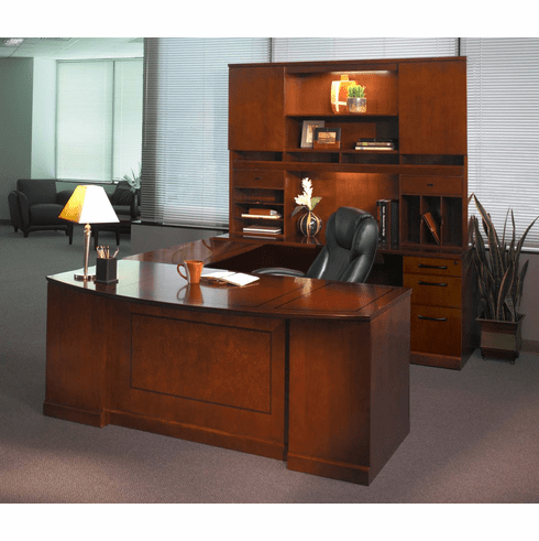Mayline Sorrento Office Desk Set Bourbon Cherry Veneer [ST1SCR]