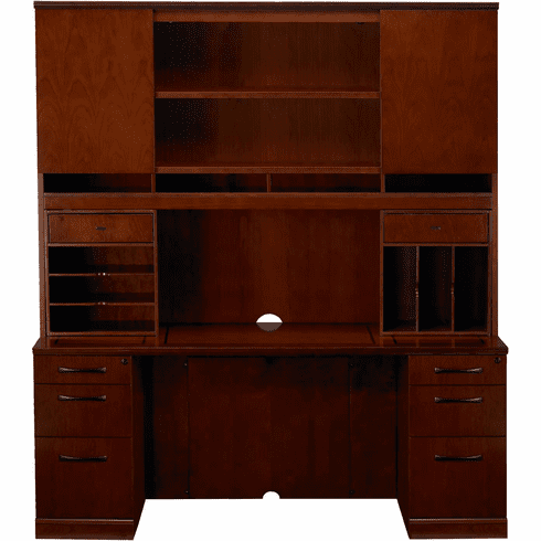 Mayline Sorrento Office Desk Set Bourbon Cherry Veneer [ST21SCR]
