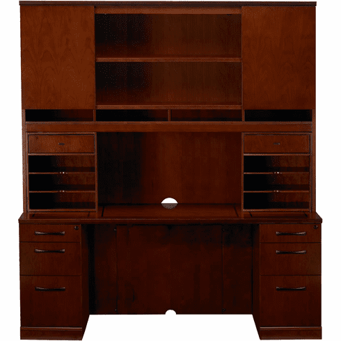Mayline Sorrento Office Desk Set Bourbon Cherry Veneer [ST22SCR]