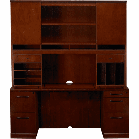 Mayline Sorrento Office Desk Set Bourbon Cherry Veneer [ST23SCR]