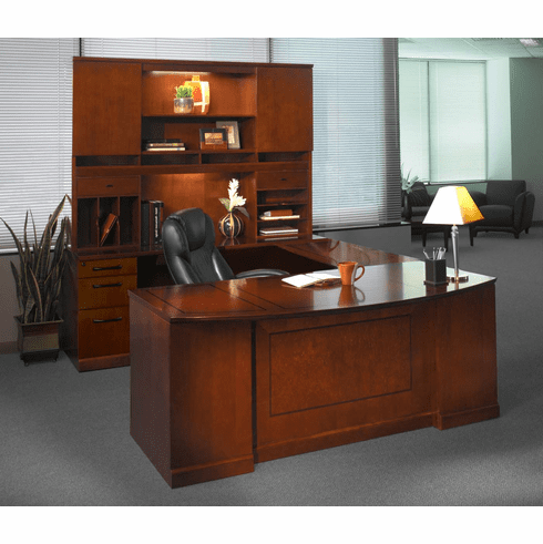 Mayline Sorrento Office Desk Set Bourbon Cherry Veneer [ST2SCR]