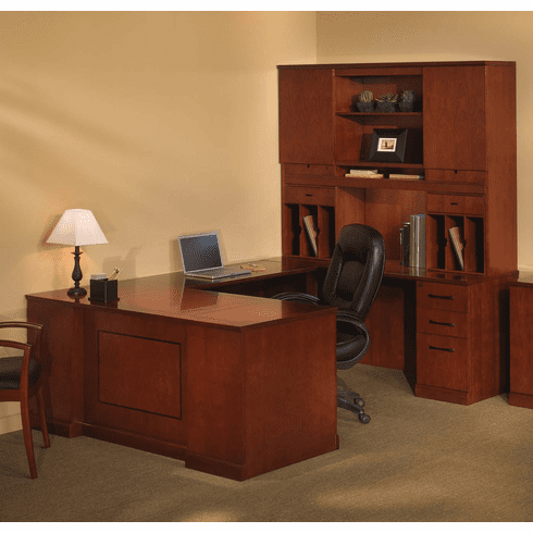 Mayline Sorrento Office Desk Set Bourbon Cherry Veneer [ST3SCR]