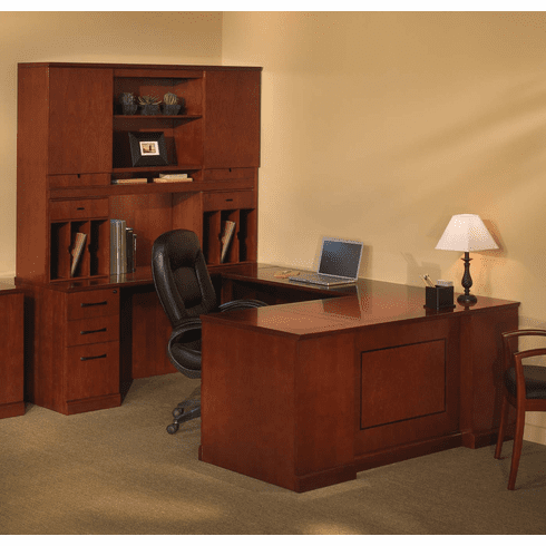 Mayline Sorrento Office Desk Set Bourbon Cherry Veneer [ST4SCR]