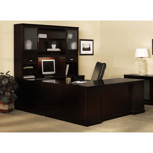 Mayline Sorrento Office Desk Set Espresso Veneer [ST7ESP]