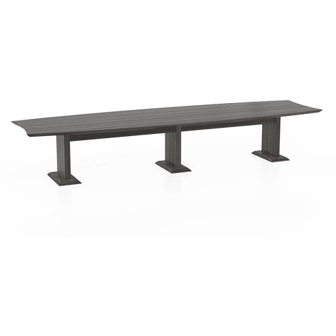 "Mayline Sterling 168"" Rectangle Conference Table Textured Driftwood [STC14TDW]"