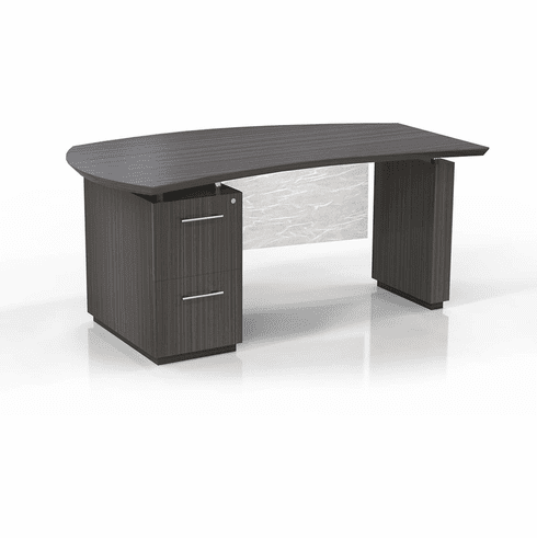 "Mayline Sterling 66"" Left Handed Desk FF Textured Driftwood [STLD66FTDW]"
