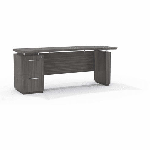 """Mayline Sterling 72"""" Credenza FF Textured Driftwood [STC72FTDW]"""