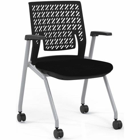 Mayline Thesis Training Chair Arms, Flex Back [KTX1SBBLK]