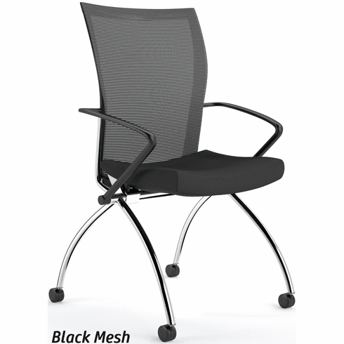Mayline Valore High Back Mesh Folding Chair with Arms [TSH1]