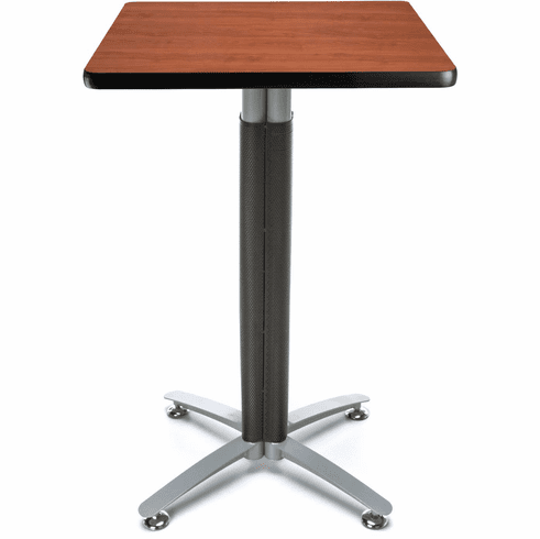 "Mesh Base Cafe Table 24"" Square Top [CMT24SQ]"