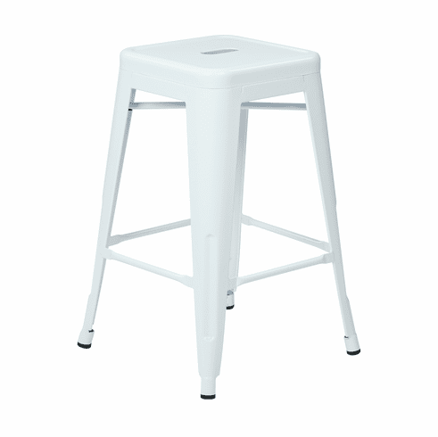 Surprising Office Star 24 Steel Backless Counter Stool White Set Of 2 Ptr3024A2 11 Alphanode Cool Chair Designs And Ideas Alphanodeonline