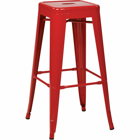 Osp Designs 30 Quot Steel Backless Barstool 2 Pack Red