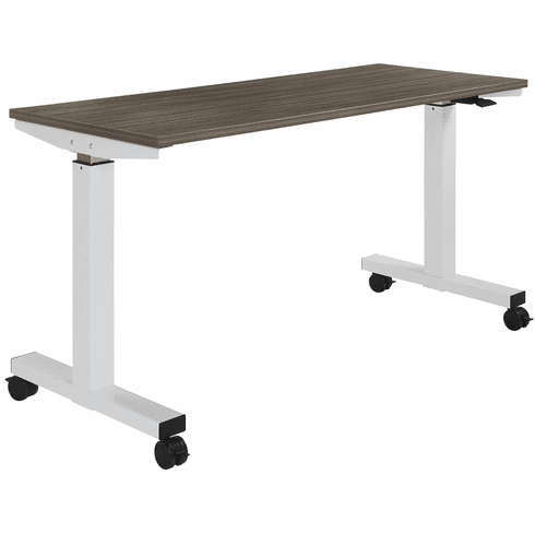 Office Star 5 ft. Wide Pneumatic Height Adjustable Table Urban Walnut [HAT60251-U]