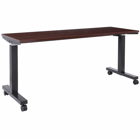 Office Star 6 ft. Wide Pneumatic Height Adjustable Table Black [HAT60263-M]