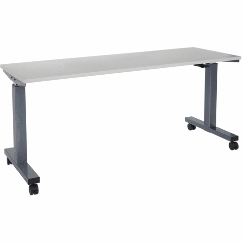 Office Star 6 ft. Wide Pneumatic Height Adjustable Table Titanium [HAT60267-G]