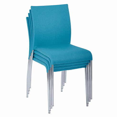 Office Star Ave Six Conway Stacking Chair Aqua Set of 4 CWYAS4-CK007]