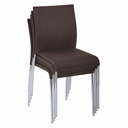 Office Star Ave Six Conway Stacking Chair Chocolate Set of 4 CWYAS4-CK003]