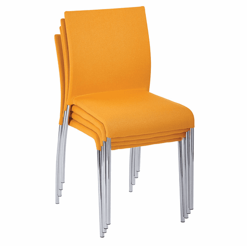 Office Star Ave Six Conway Stacking Chair Nugget Set of 4 CWYAS4-CK004]