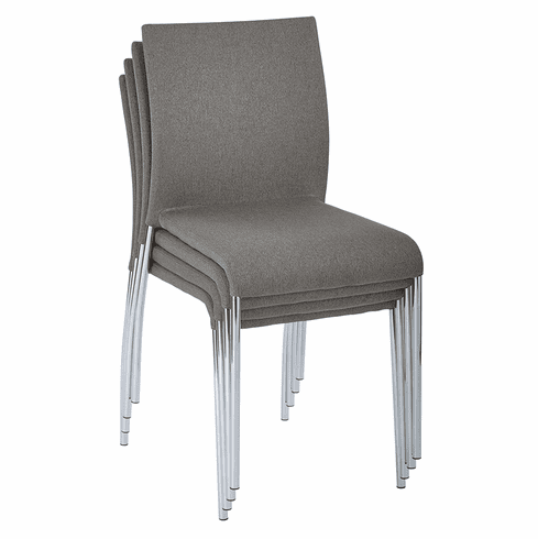 Office Star Ave Six Conway Stacking Chair Smoke Set of 4 CWYAS4-CK002]