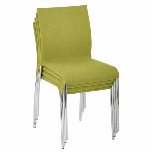 Office Star Ave Six Conway Stacking Chair Spring Green Set of 4 CWYAS4-CK005]