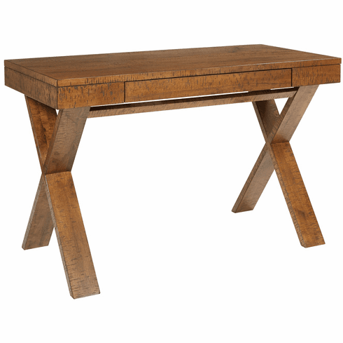 Office Star Ave Six Lane Desk Distressed Brown [LAN25-DB]