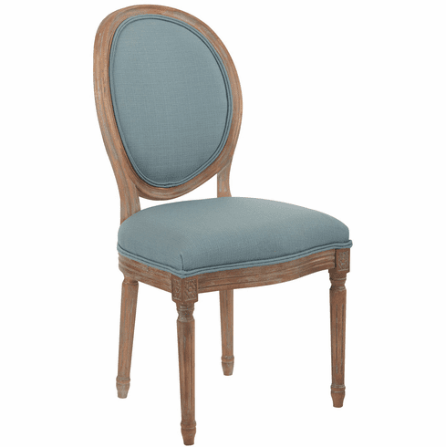 Lillian Oval Back Chair In Klein Sea Brushed Frame K D
