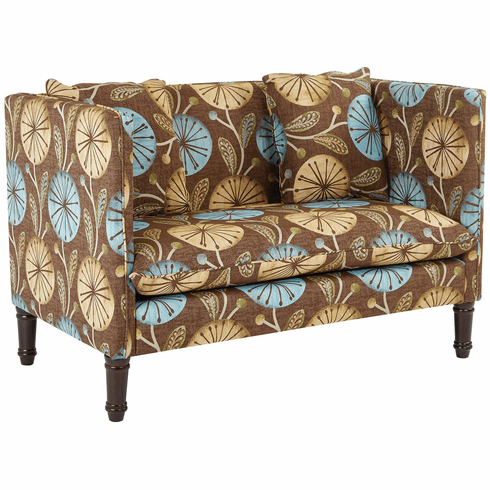 Office Star Ave Six Providence Settee Dandelion Aqua [PVD52-SK32]