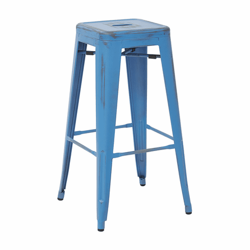 Bristow 30 Quot Antique Metal Barstool Antique Royal Blue