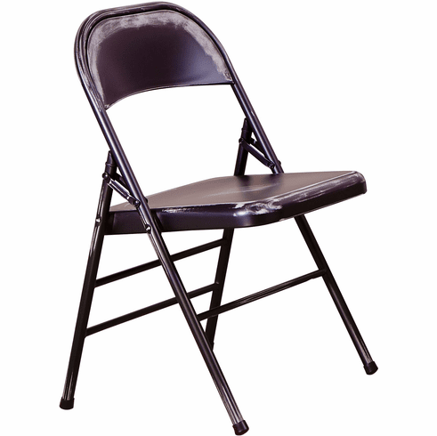 Office Star Bristow Set of 2 Steel Folding Chairs Antique Black [BRW831A2-AB]