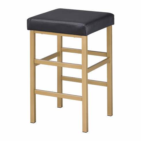 Excellent Office Star Osp Designs 26 Gold Backless Stool Black Met1326G 3 Alphanode Cool Chair Designs And Ideas Alphanodeonline
