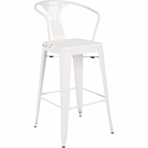Office Star Patterson Cafe Stool White Set of 2 [PTR420A2-11]