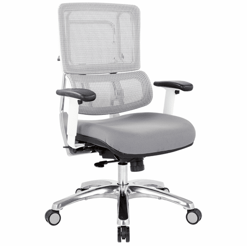 Office Star Pro-Line II™ Breathable White Vertical Mesh Chair [99661W-5811]