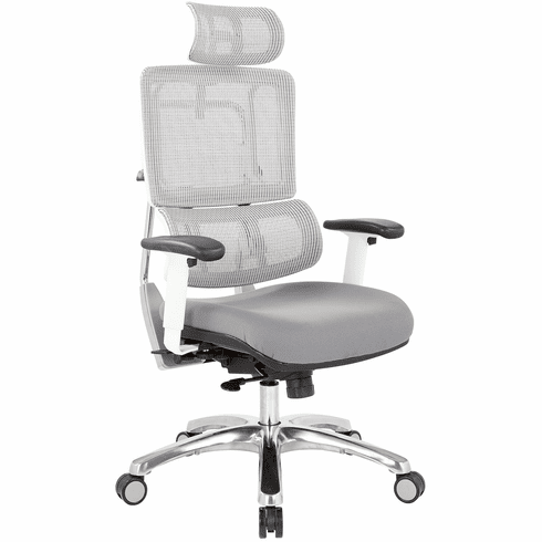 Office Star Pro-Line II™ Breathable White Vertical Mesh Chair [99661WHRW-5811]
