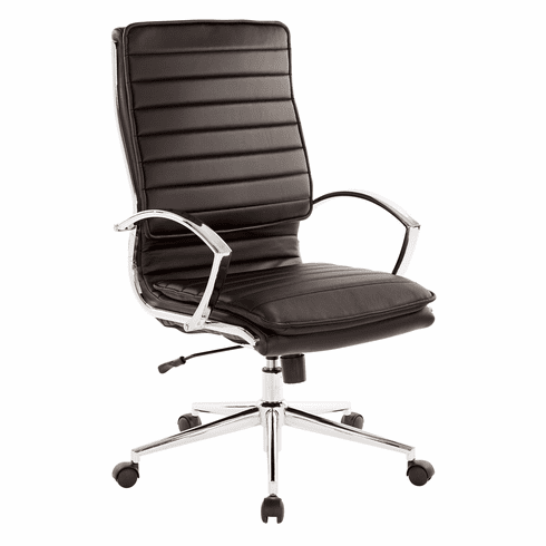 Office Star Pro-Line II™ High Back Manager's Chair Black Faux Leather [SPX23590C-U6]