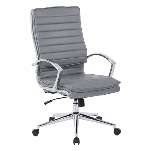 Office Star Pro-Line II™ High Back Manager's Chair Charcoal Faux Leather [SPX23590C-U42]