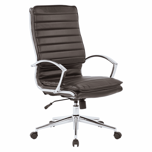 Office Star Pro-Line II™ High Back Manager's Chair Espresso Faux Leather [SPX23590C-U1]