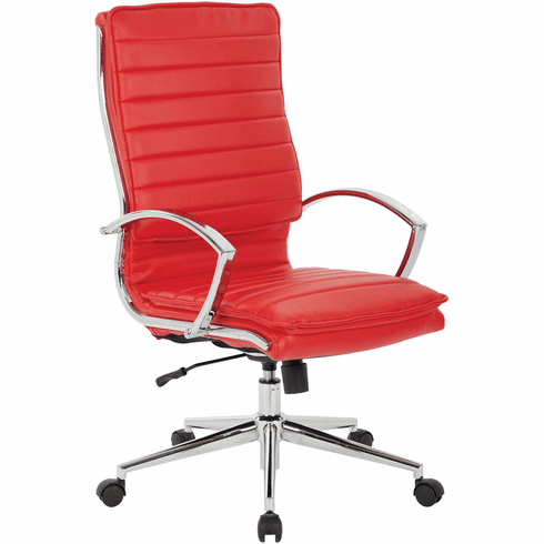 Office Star Pro-Line II™ High Back Manager's Chair Red Faux Leather [SPX23590C-U9]