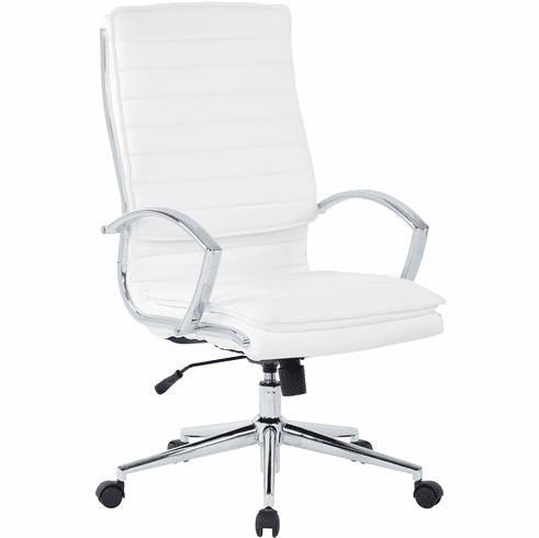 Office Star Pro-Line II™ High Back Manager's Chair White Faux Leather [SPX23590C-U11]