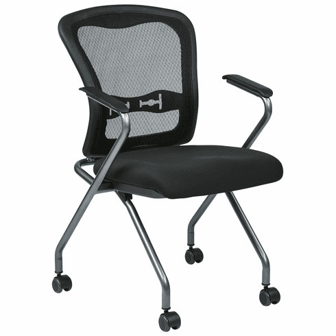 Folding Office Chair Throughout Office Star Pro Line Ii Mesh Folding Chair 8444030 And Nesting With Back 84440