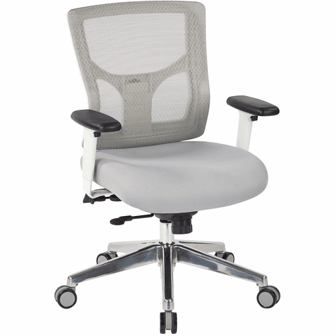 Office Star Pro-Line II™ ProGrid® White Mesh Mid Back Chair [95673]