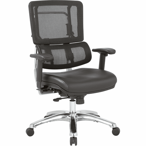 Office Star Pro-Line II™ Vertical Black Mesh Back Chair [99662C-R107]