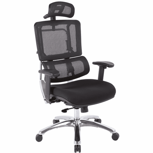 Office Star Pro-Line II™ Vertical Black Mesh Chair [99662CHRB-30]